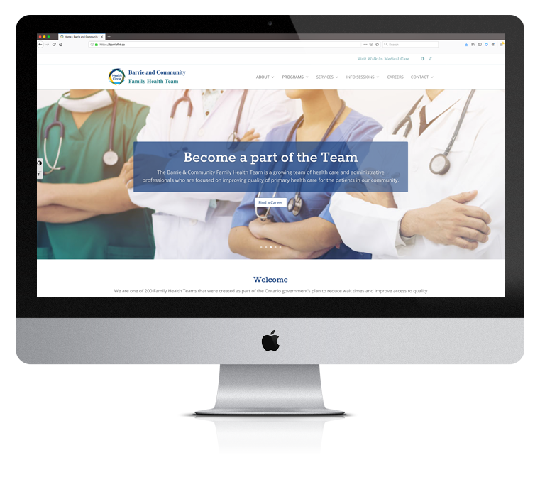 Website Design Barrie and Community Family Health Team