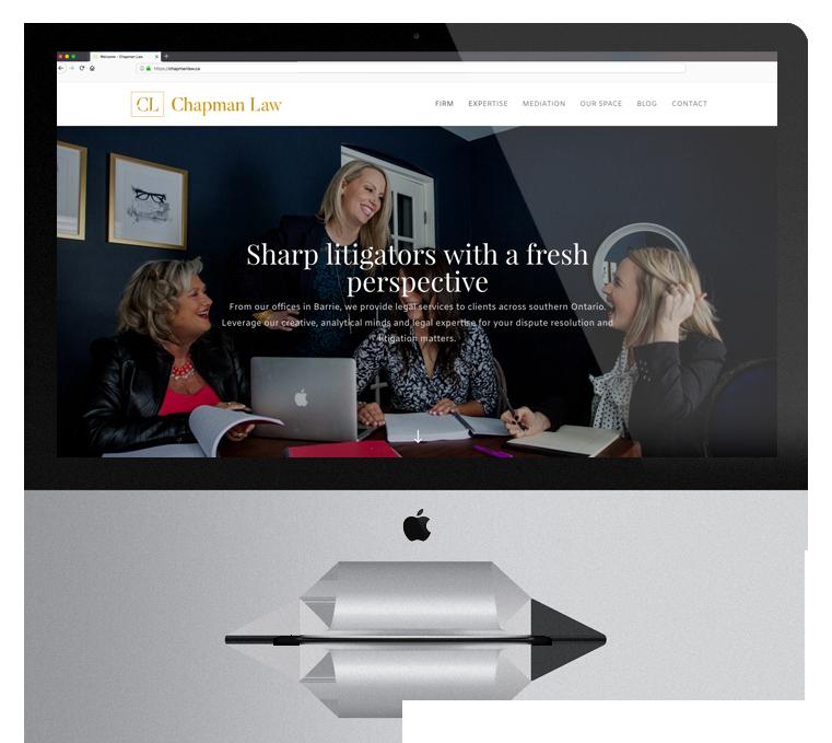 Website Design Enticity Chapman Law